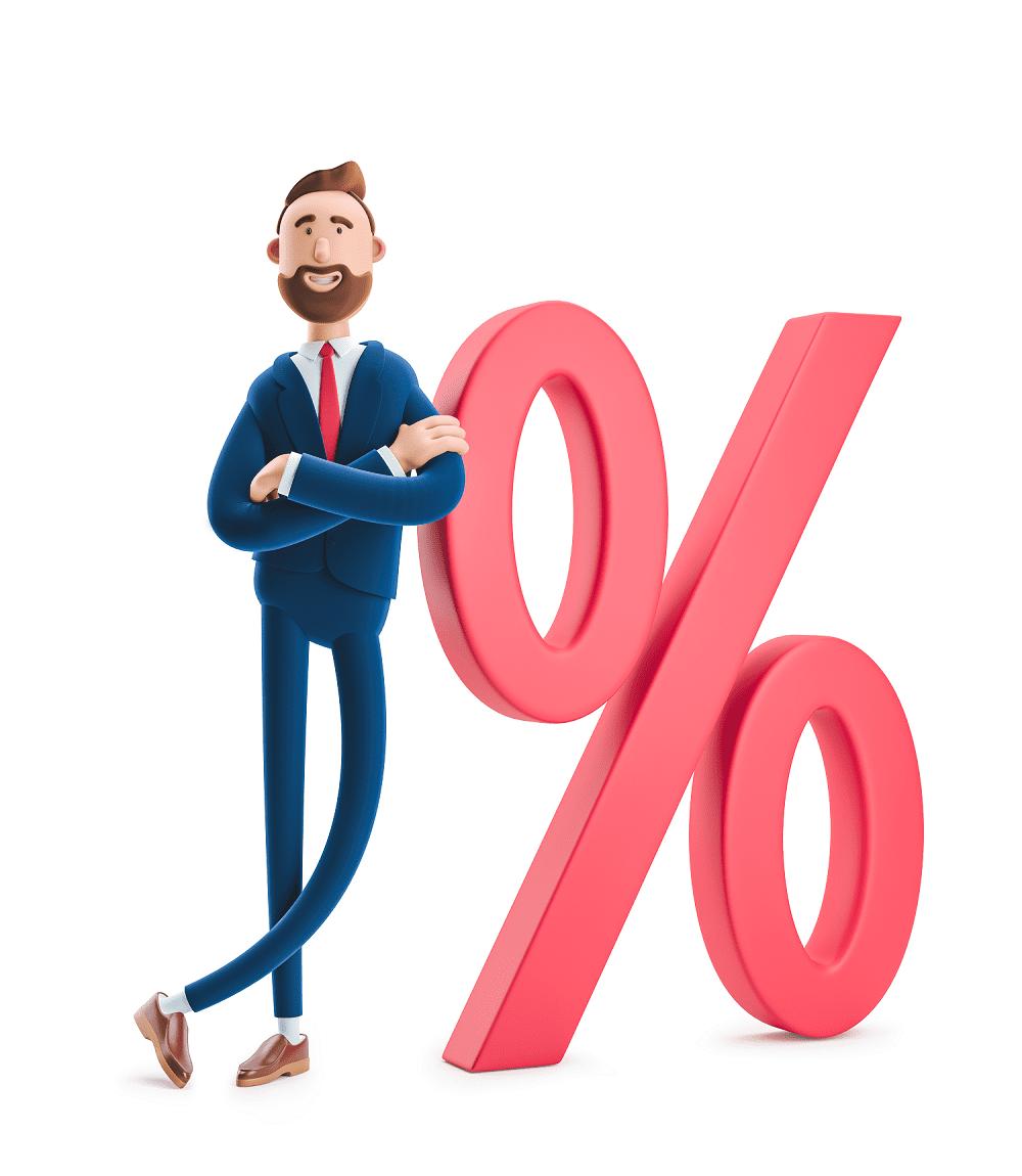Инвестор со знаком процентов